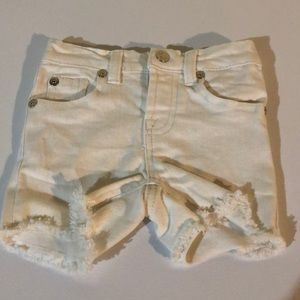 EUC White 7 for all mankind shorts